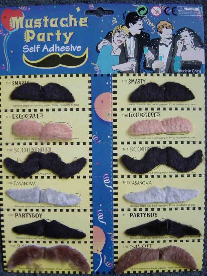 Assorted 12 Pack Moustaches