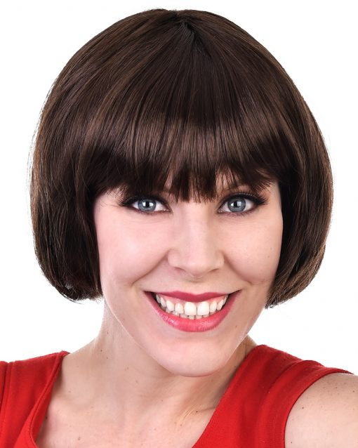 Paige Bob with Fringe Brown