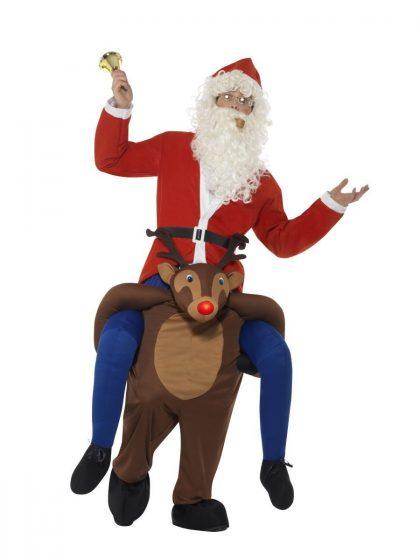 Piggyback Reindeer Rudolf Costume