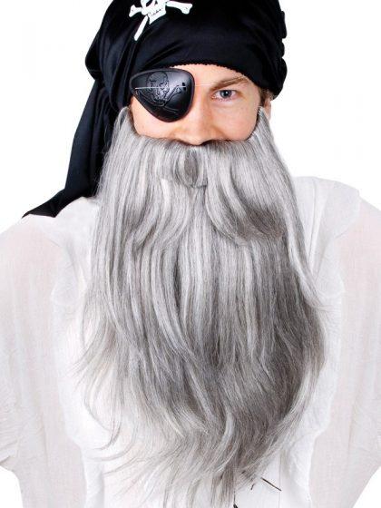 Pirate Beard & moustache Jumbo Set Grey