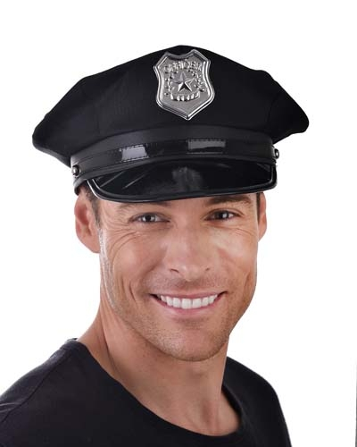 Police Cap USA Black