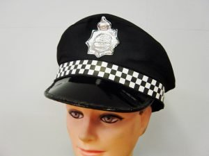 Police Hat Checkered Band