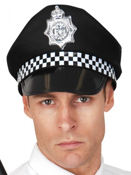 Police Hat UK Black