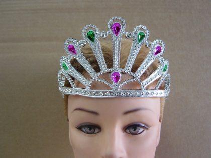 Tiara Peacock Stylemwith Coloured Gems