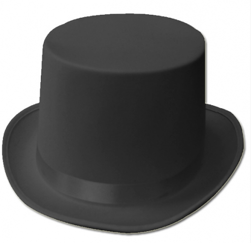 Top Hat - Black Satin