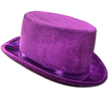 Velvet Top Hat - Purple