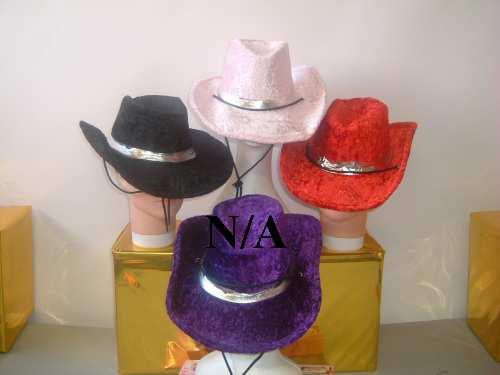 Western Cowboy Hat Pink Velvet