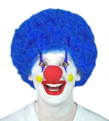 Wig - Blue Curly Clown