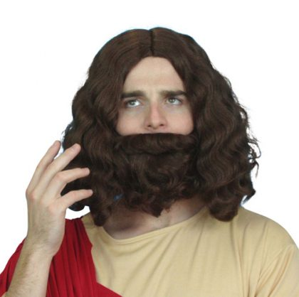 Wig - Holyman Wig & Beard Set - Brown