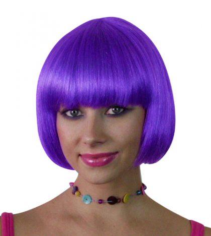 Wig- Purple Short Bob - Deluxe