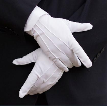 white Santa gloves mens