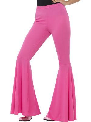 flared trousers ladies pink