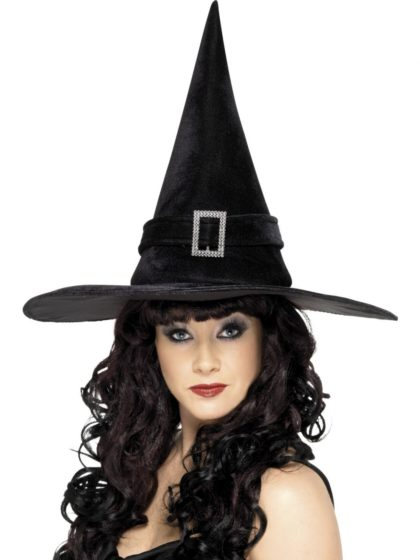 black witch hat with buckle