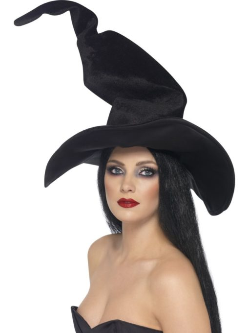 Black tall and twisty witches hat