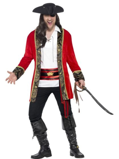 Curves pirate cpatin costume