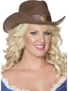 Cowgirl hat brown