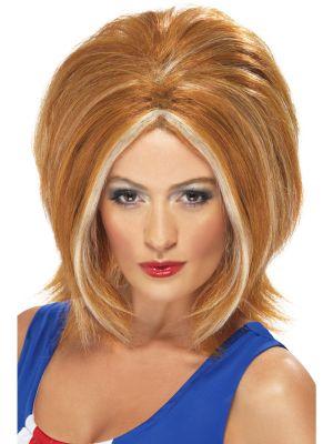 Ginger girl power wig