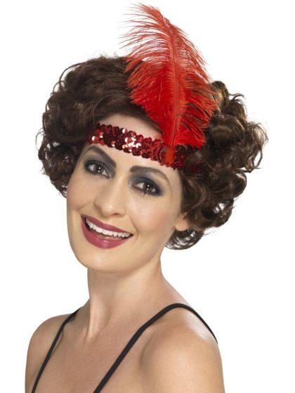 1920 headband red