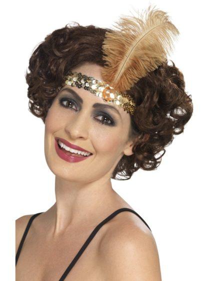 Gold 1920s headband