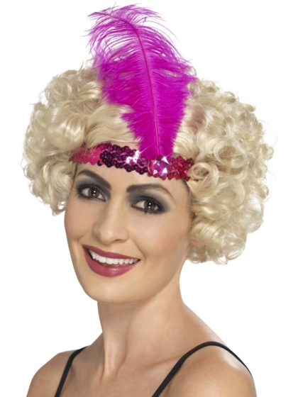 1920s headband pink