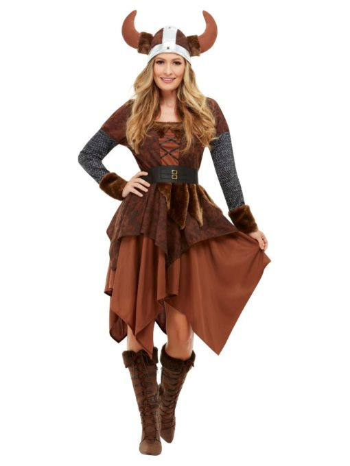 Viking barbarian queen costume