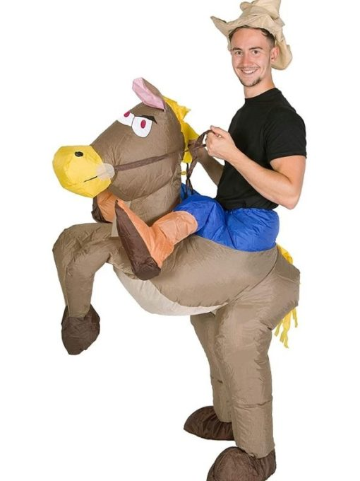 Inflatable cowboy costume