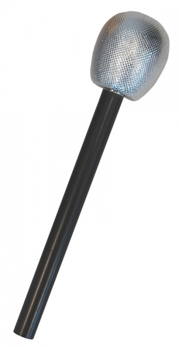 Silver microphone prop