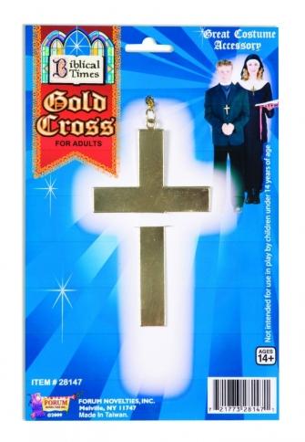gold cross metal