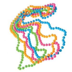 80s neon beads