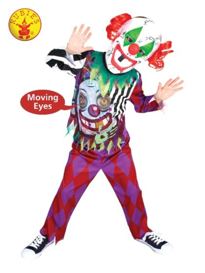 Scary clown boys costume