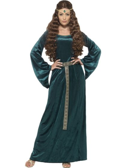 Green medieval costume