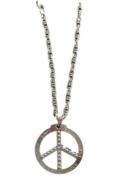 Bling peace sign