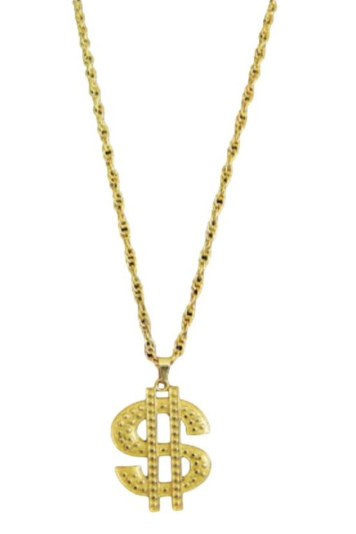 gold bling necklace