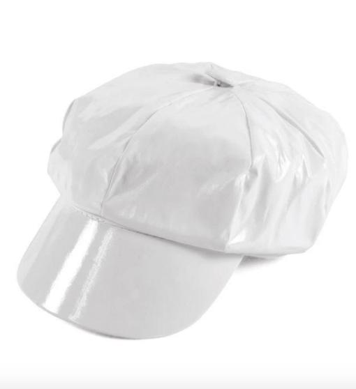 White gogo cap
