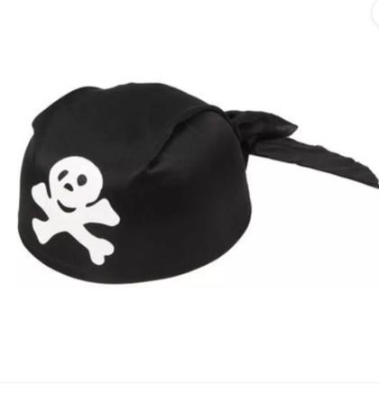 pirate skull cap black