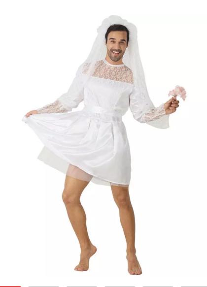 Mens bride costume