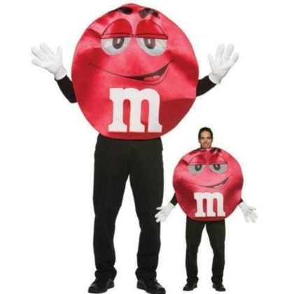Adult red red M & M costume