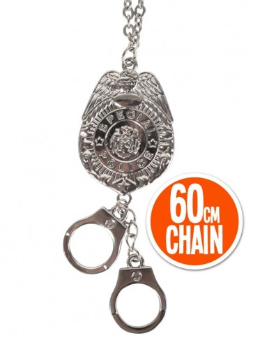 Police badge necklace
