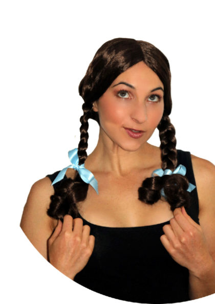 brown plaits wig