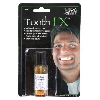 Tooth makeup mehron gold