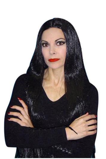 Extra long Morticia wig