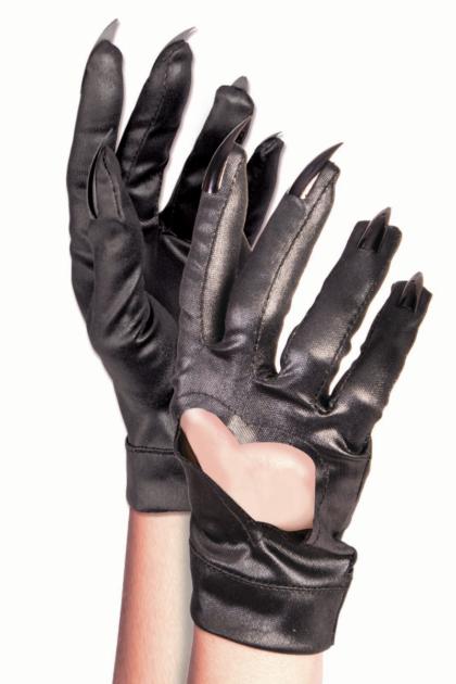 Black cat gloves