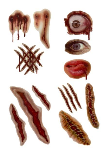 Horror tattoo stickers