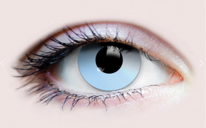 Scary blue underworld contact lenses