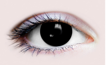 Possessed black contact lens