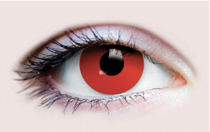 Evil eyes red contact lens