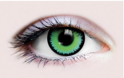 Werewolf green contact lens