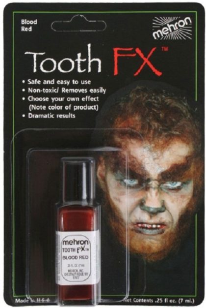 tooth makeup mehron red