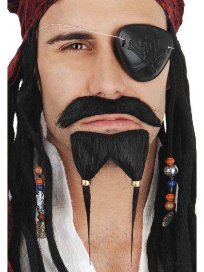 Jack Sparrow moustache and beard