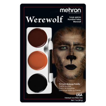 mehron tri colour palette